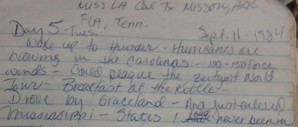 Kim Longacre's 1984 Tour Diary